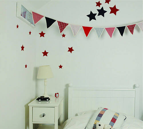 zoom stars bedroom red Appealing Wall Stickers Ideas for Kids Bedroom