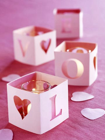 3 handmade valentines day decor Love Candles Romantic Table Decorations Ideas for Valentines Day