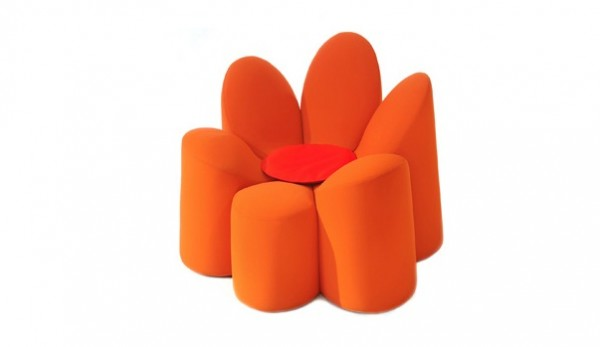Roche Bobois Mayflower04 600x347 Adorable Flower Shaped Armchair by Roche Bobois