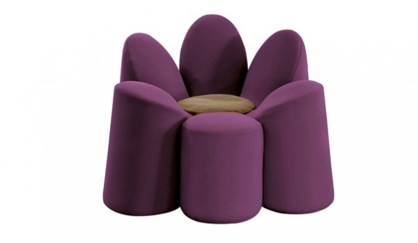 Roche Bobois Mayflower05 600x349 Adorable Flower Shaped Armchair by Roche Bobois