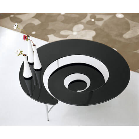 Spiral black coffee table 21 Unique Coffee Tables Designs