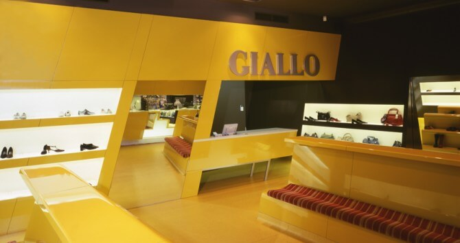 Amazing Interior Design for Shoes Giallo Store by Luigi Roselloi Architects
