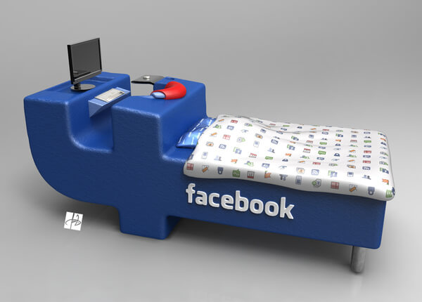 facebook bed concept01 Intriguing Facebook Bed Concept