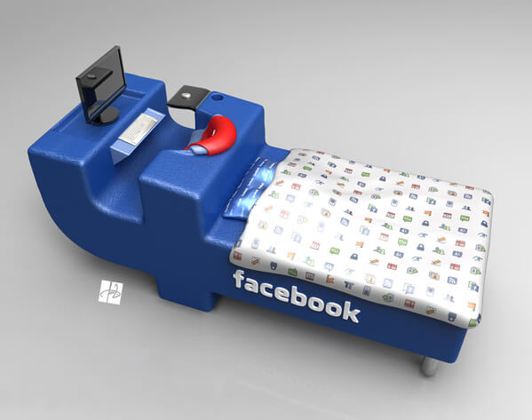 facebook bed concept02 Intriguing Facebook Bed Concept