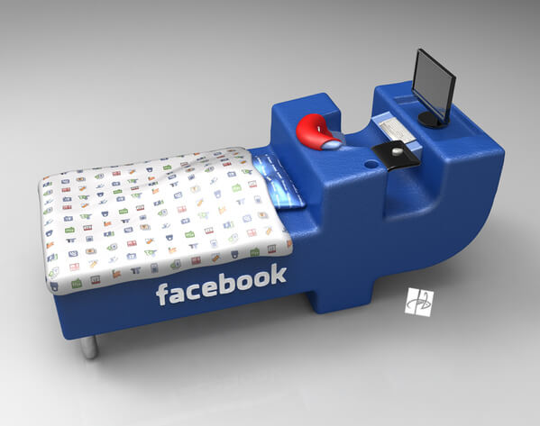 facebook bed concept03 Intriguing Facebook Bed Concept