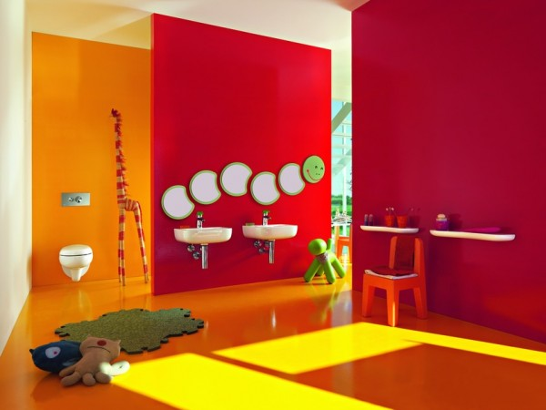 florakids03 600x450 Amazing Kids Bathroom Design from Laufen