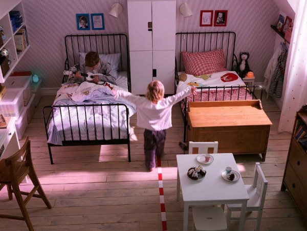 ikea kids bedroom03 600x451 Cheerful Children Rooms with Plenty of Inspiring Details