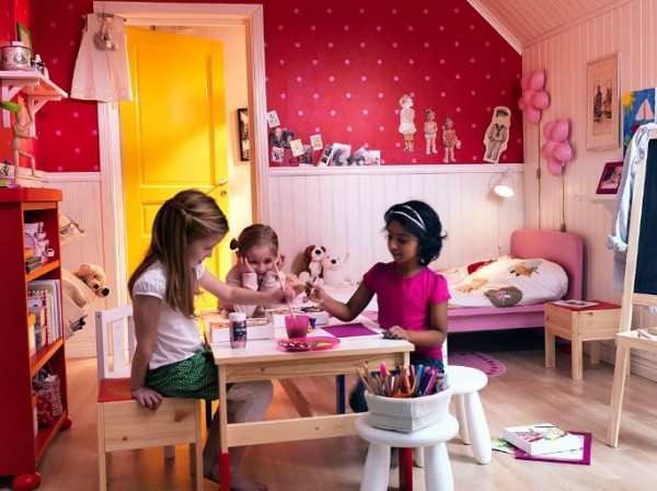 ikea kids bedroom04 600x448 Cheerful Children Rooms with Plenty of Inspiring Details