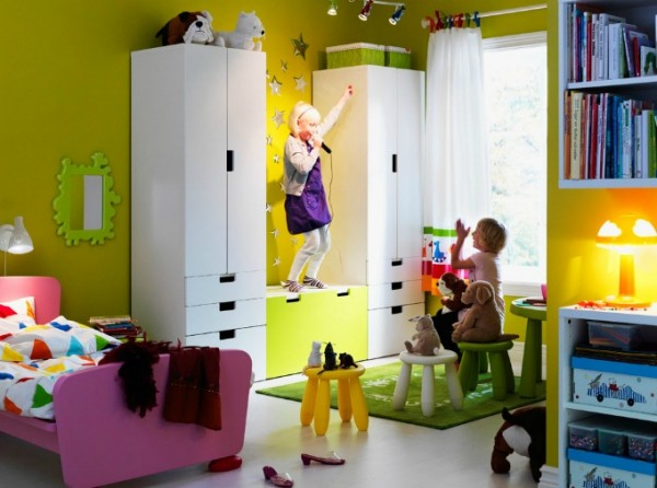 ikea kids bedroom05 600x446 Cheerful Children Rooms with Plenty of Inspiring Details