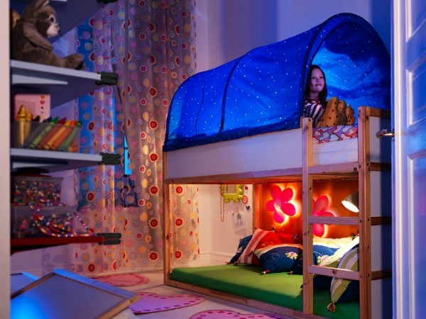 ikea kids bedroom07 600x450 Cheerful Children Rooms with Plenty of Inspiring Details