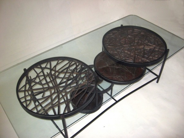 metal coffee table handmade 600x450 Handmade Metal Coffee Table