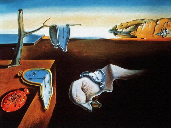 painting dali 600x450 Find Out What Time is With a Surrealistic Melting Clock