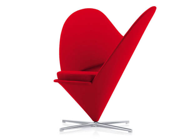 valentine heart cone chair Add More Passion to Your Interior with Attractive Modern Loveseats
