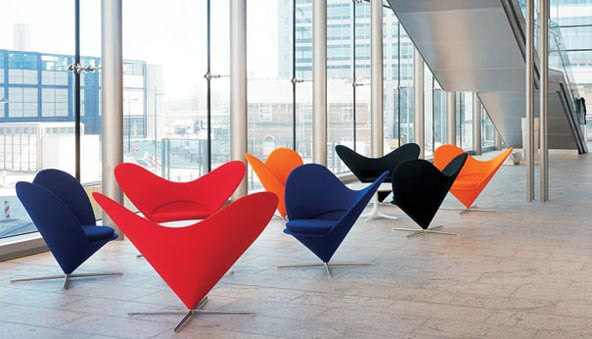 valentine heart cone chairs Add More Passion to Your Interior with Attractive Modern Loveseats