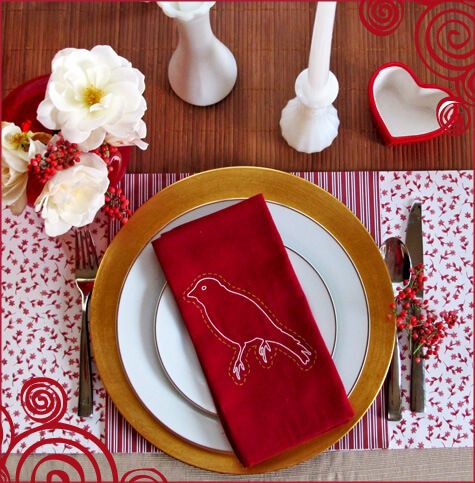 valentines romantic tablesetting Romantic Table Decorations Ideas for Valentines Day