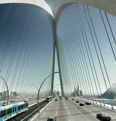 6th crossing Impressive Architecture: Worlds Longest Arched Bridge in Dubai