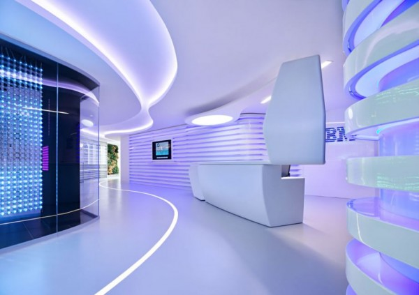 IBM executive briefing center1 600x423 Eye Catching High Tech Renovation: IBM Software Executive Briefing Center