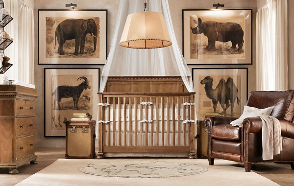 Jameson nursery restoration hardware3 600x380 12 Inspiring Nursery Design Ideas from Restoration Hardware