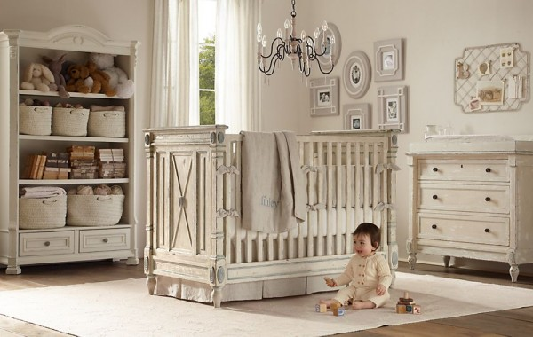 Jourdan nursery restoration hardware2 600x380 12 Inspiring Nursery Design Ideas from Restoration Hardware