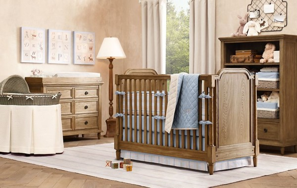 Leighton nursery restoration hardware2 600x380 12 Inspiring Nursery Design Ideas from Restoration Hardware