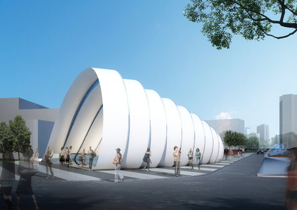 Metro Station Peter Ruge Architekten Sofia New Subway Concept Featuring Innovative Undulating Canopy