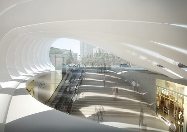 Metro Station Peter Ruge Architekten1 Sofia New Subway Concept Featuring Innovative Undulating Canopy
