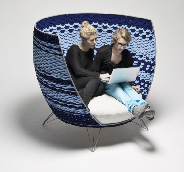 big basket01 600x560 Oversized Modern Chair from Ola Gillgren
