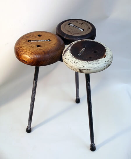 button stool Original Handmade Furniture to Create an Unique Environment