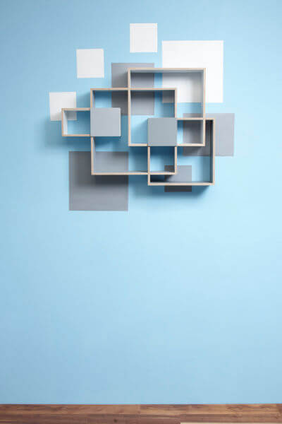 cloud full wall 90deg Shelves and Wall Decoration in a Beautiful Combination