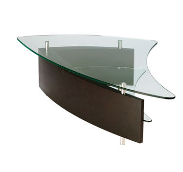 fin coffee table espresso1 10 Contemporary Glass Coffee Tables with Minimalist Design