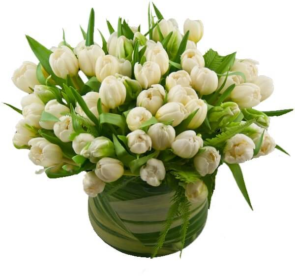 frenchtulips Vibrant Valentines Day Flowers Centerpiece Ideas