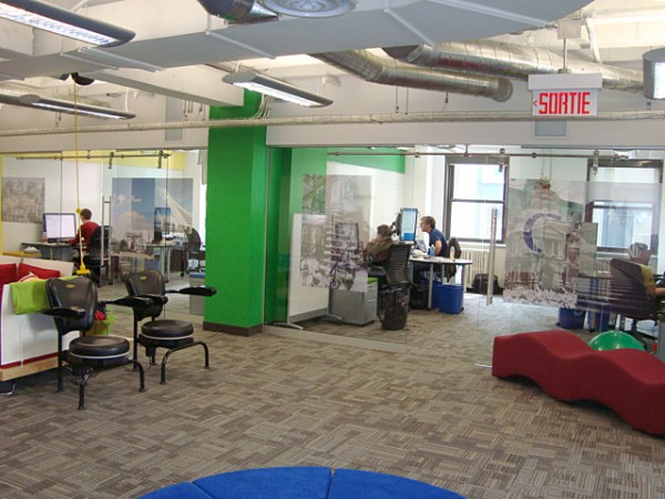 google office canada3 600x450 Awesome Google Offices Designs Around the World