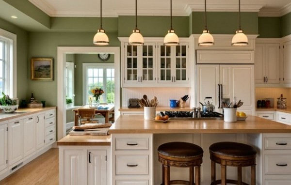 Wall paint colors for kitchens best home decoration for Painting kitchen ideas walls