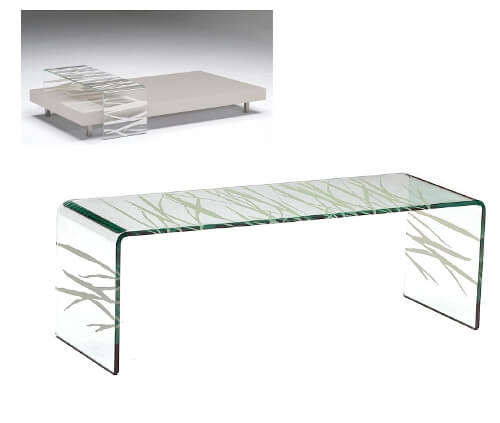 nautilus bridge500 10 Contemporary Glass Coffee Tables with Minimalist Design