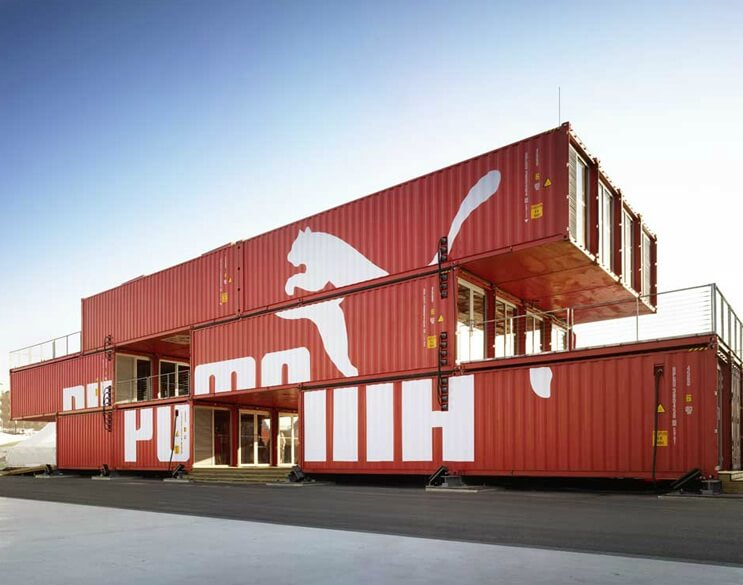 Puma City: Shipping Container Store by LOT-EK. By designer
