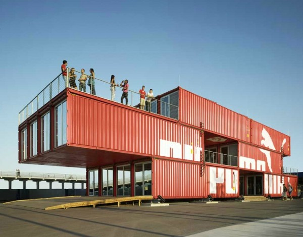 puma city container store1 600x470 Puma City: Shipping Container Store by LOT EK