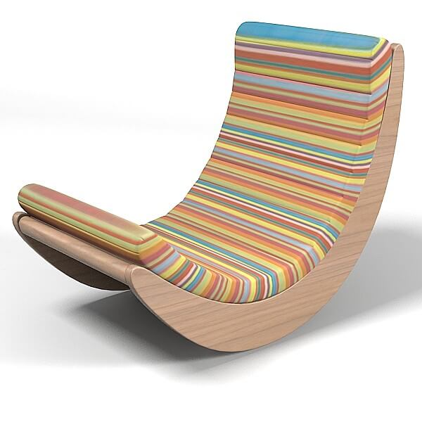 Elegant Relaxer Rocking Chair By Verner Panton. 6.