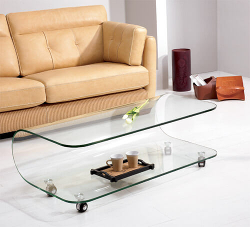 vanessa glass table 10 Contemporary Glass Coffee Tables with Minimalist Design