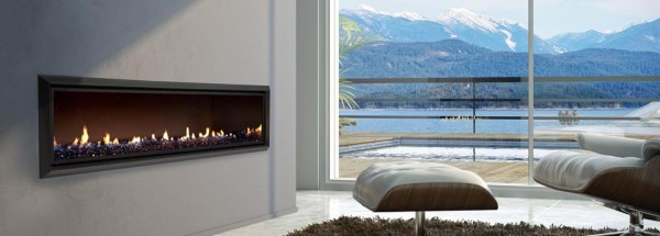 Velo DX1500 SatinBlk RBlueCrystalight 01 hi res 600x215 11 Great Examples of Fireplaces Design