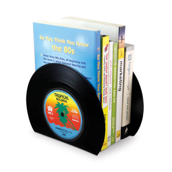 Vinyl Bookends 22 Decorative Objects Ideas Using Old Vinyl Records