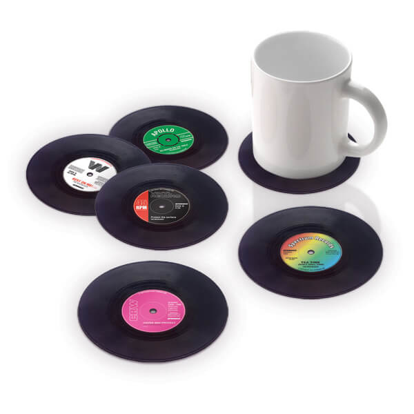 Vinyl Coasters 22 Decorative Objects Ideas Using Old Vinyl Records