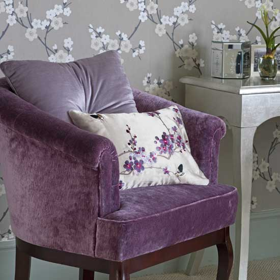 bedroom chair purple lavender silver leaf table 5 Design Ideas to Decorate Your Home for Spring