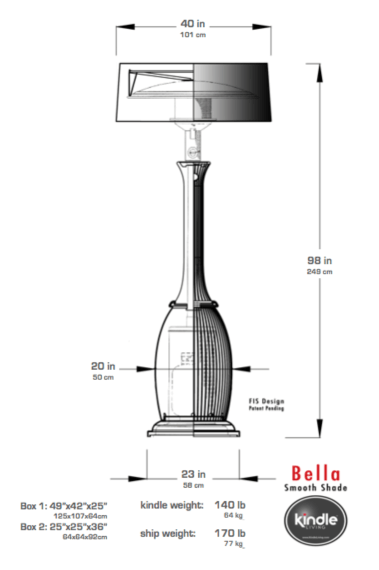 bella smooth tech Fantastically Modern Patio Heater for Outdoor Areas