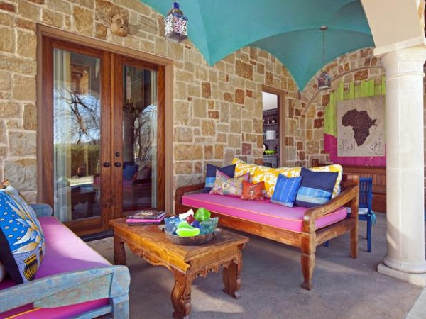colorful mediterranean outdoor rooms 600x450 10 Designs Ideas to Create Colorful Outdoor Spaces