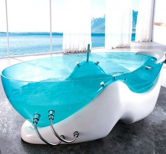 8 modern clear glass bathtubs interior design design Best acrylic tub