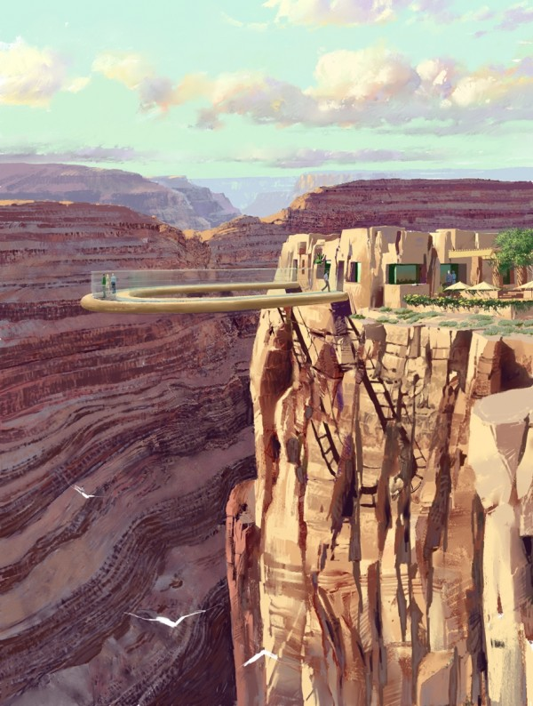 grandcanyon skywalk 600x794 Grand Canyon Skywalk, a Transparent Feel of Freedom