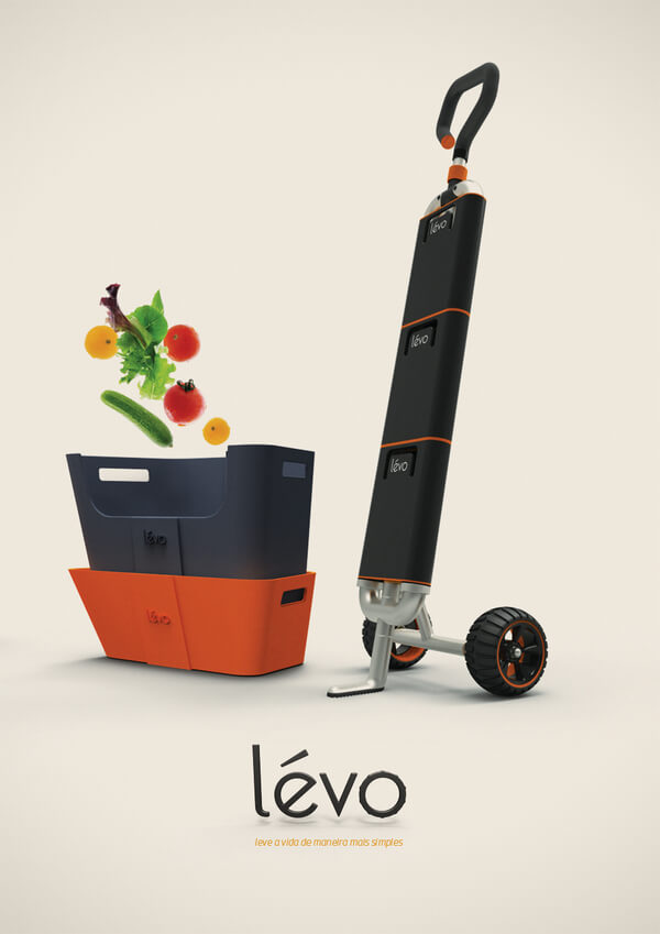 levo multipurpose cart Multipurpose Cart Concept For Shopping