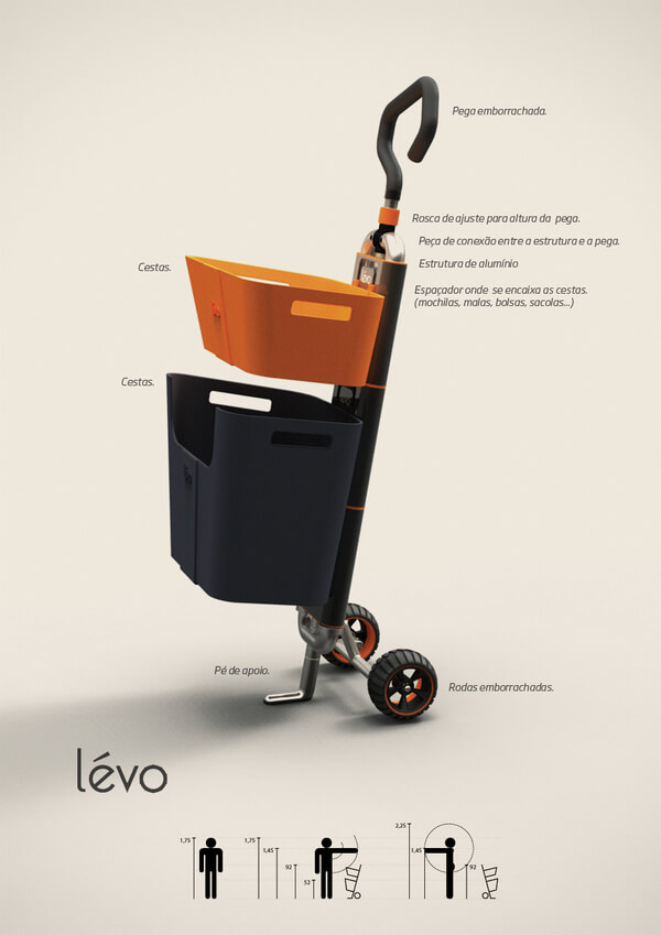 levo multipurpose cart1 Multipurpose Cart Concept For Shopping