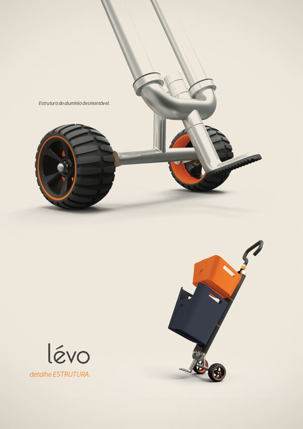 levo multipurpose cart2 Multipurpose Cart Concept For Shopping