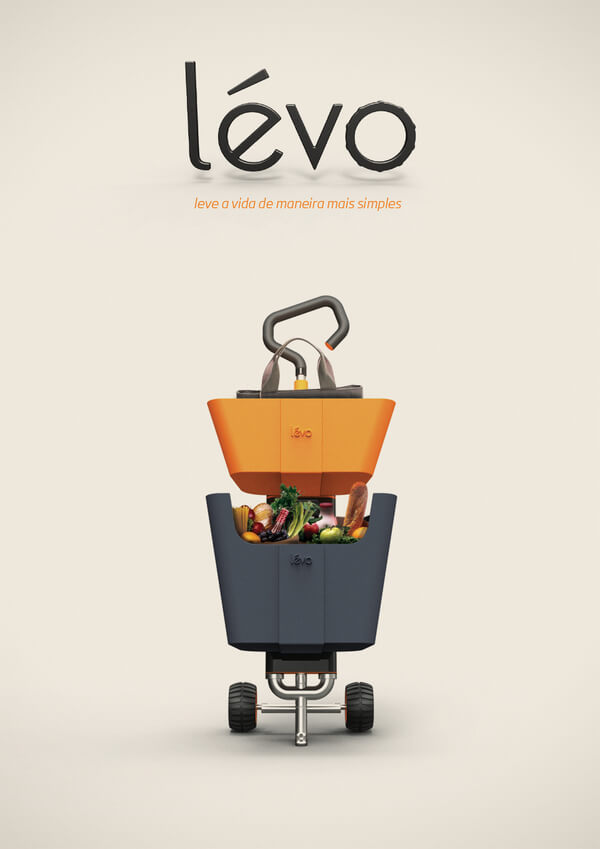 levo multipurpose cart3 Multipurpose Cart Concept For Shopping